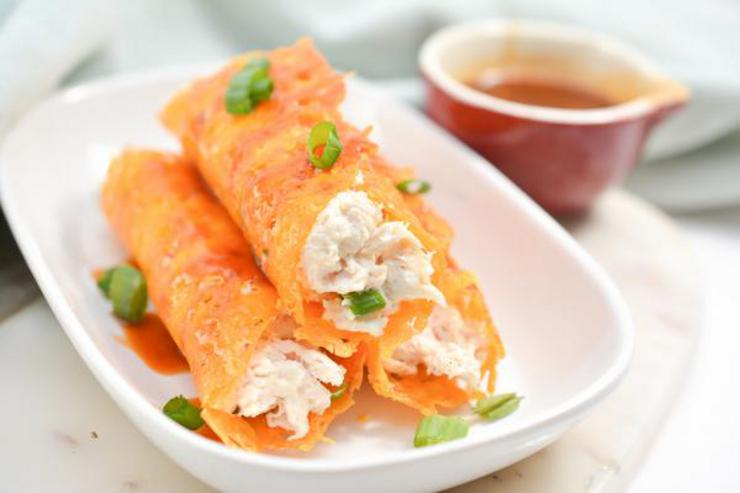 Keto Honey Buffalo Chicken Taquitos
