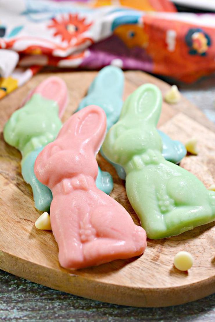 Keto White Chocolate Easter Bunnies