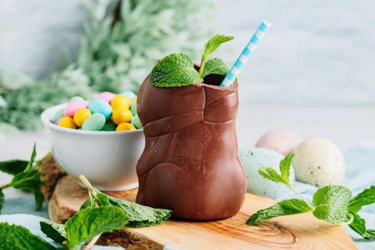 Alcohol Drinks Chocolate Easter Bunny Cocktail