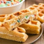 Easy Waffles – Best Homemade Stuffed Fruit Loops Cream Cheese Waffle Sticks Recipe – Breakfast – Party Food – Snacks – Quick – Simple