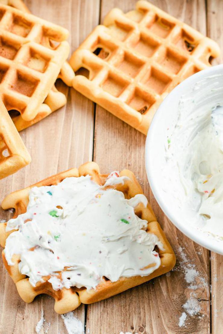 Fruit Loops Cream Cheese Waffle Sticks