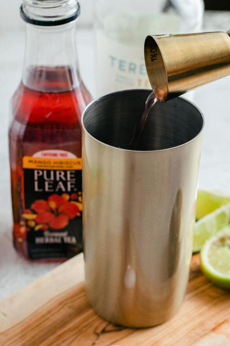 Keto Mango Hibiscus Margarita