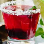 Alcoholic Drinks – BEST Black Cherry Lime Margarita Recipe – Easy and Simple On The Rocks Alcohol Drinks