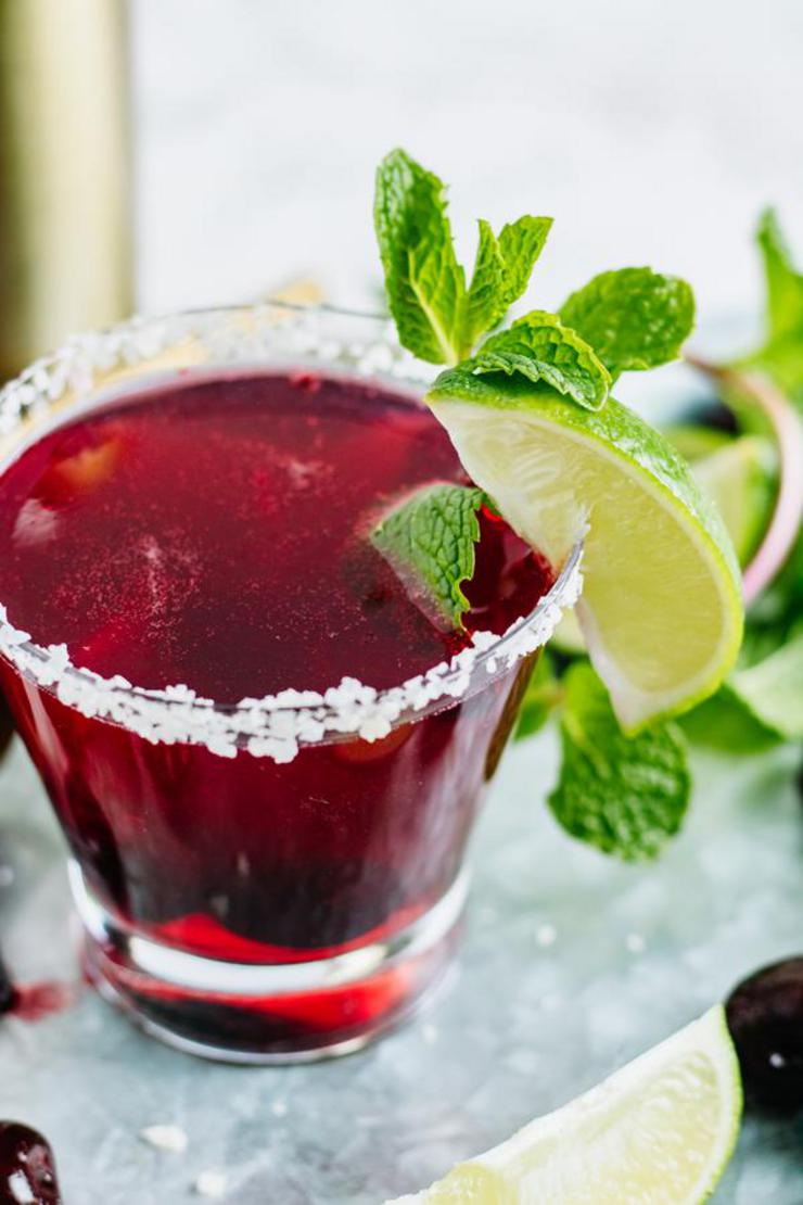 Alcohol Drinks Black Cherry Lime Margarita