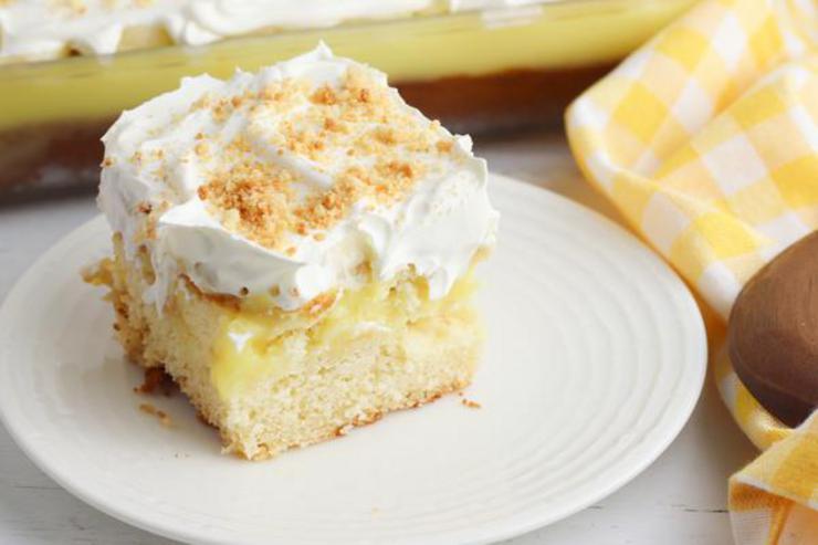 Banana Pudding Poke Cake