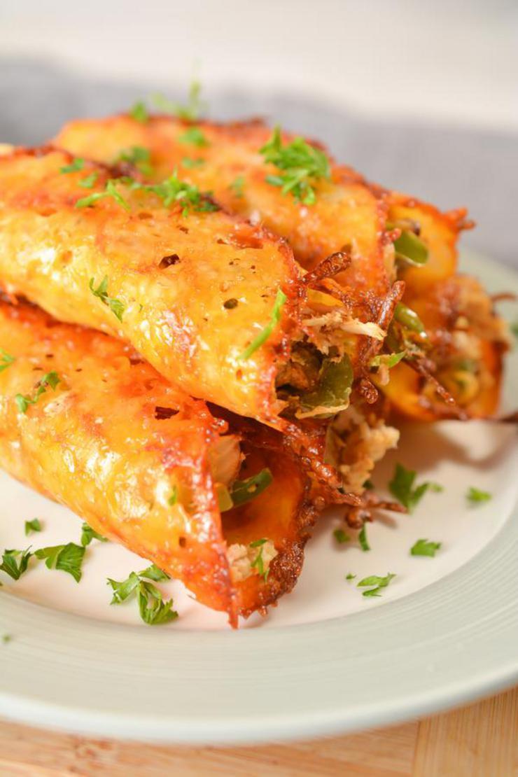Keto Chicken Fajita Taquitos