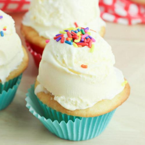 BEST Ice Cream Cupcakes! EASY Cupcake Recipe - Simple Desserts - Kids Parties