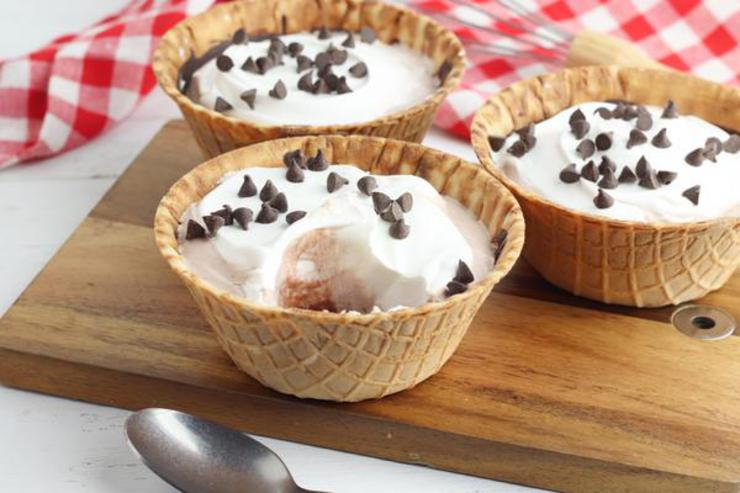 Party Food Pudding Pie Waffle Cups