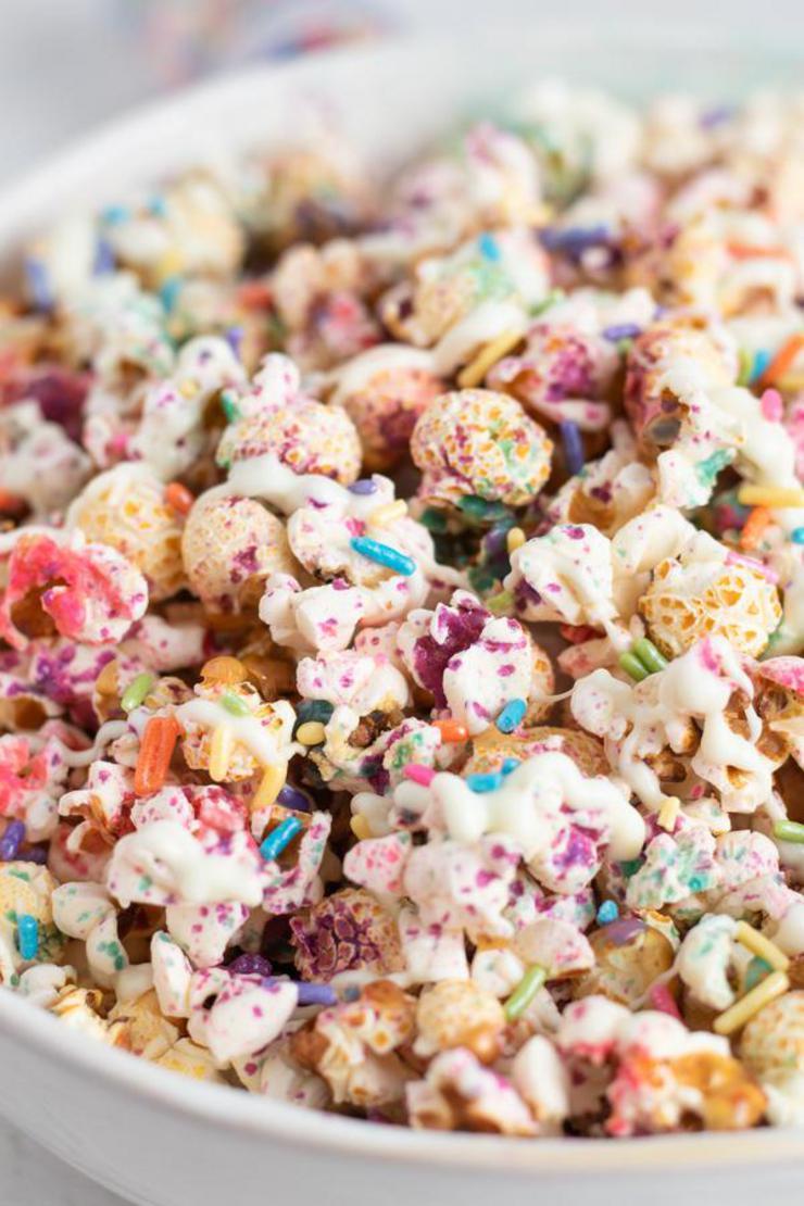 BEST Unicorn Popcorn - Kids Party Food - EASY Unicorn Party Food Ideas – Popcorn Recipes