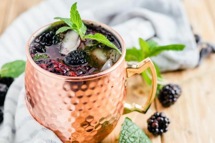 Alcohol Drinks Blackberry Moscow Mule