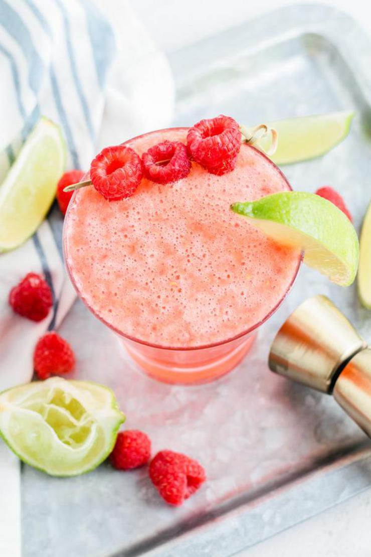 Alcohol Drinks Sparkling Raspberry Margarita