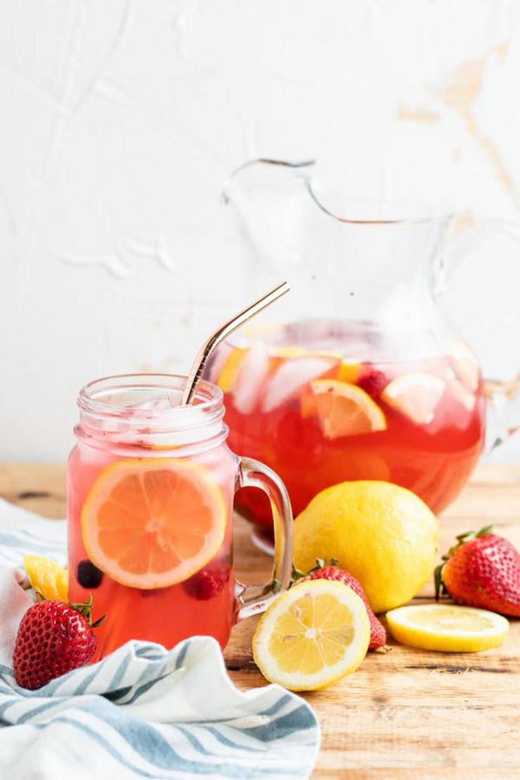 Alcoholic Drinks – BEST Vodka Spiked Berry Lemonade Recipe – Easy and Simple Pitcher Cocktail Alcohol Drinks