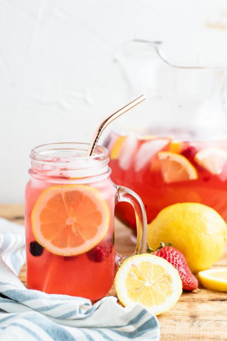 Alcohol Drinks Spiked Berry Lemonade