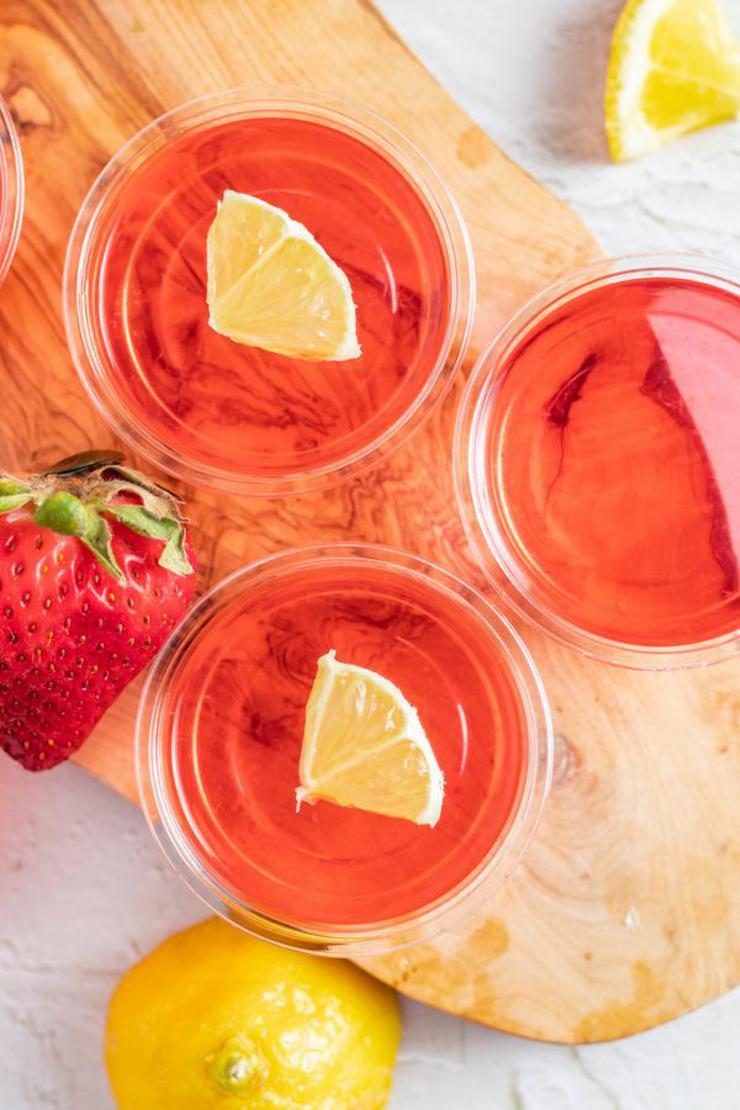 Alcohol Drinks Strawberry Lemonade Jello Shots
