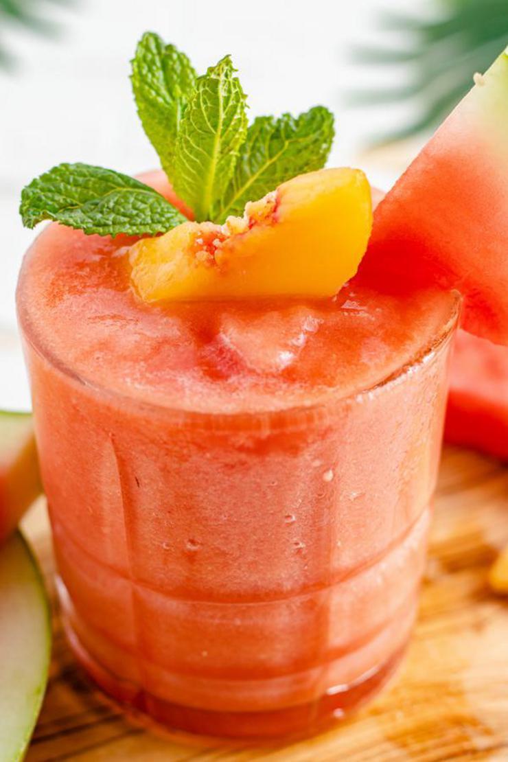 Alcohol Drinks Watermelon Peach Daiquiri