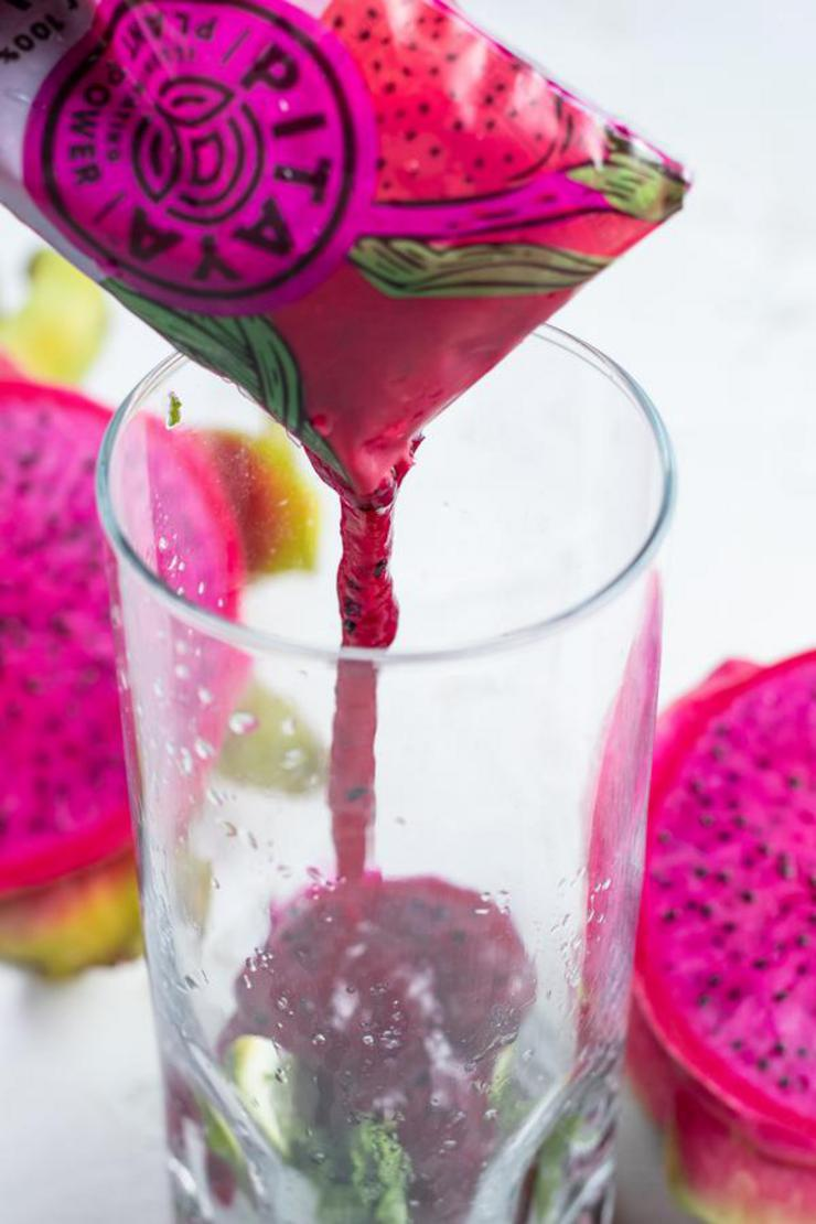 Alcohol Drinks Dragonberry Mojito