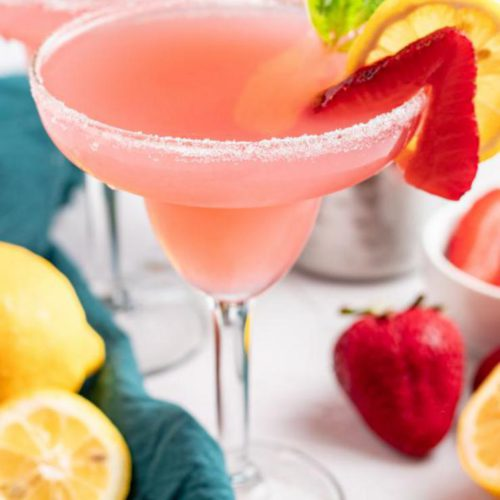 Alcoholic Drinks – BEST Pink Lemonade Margarita Cocktail Recipe – Easy and Simple Tequila Cocktail Alcohol Drinks