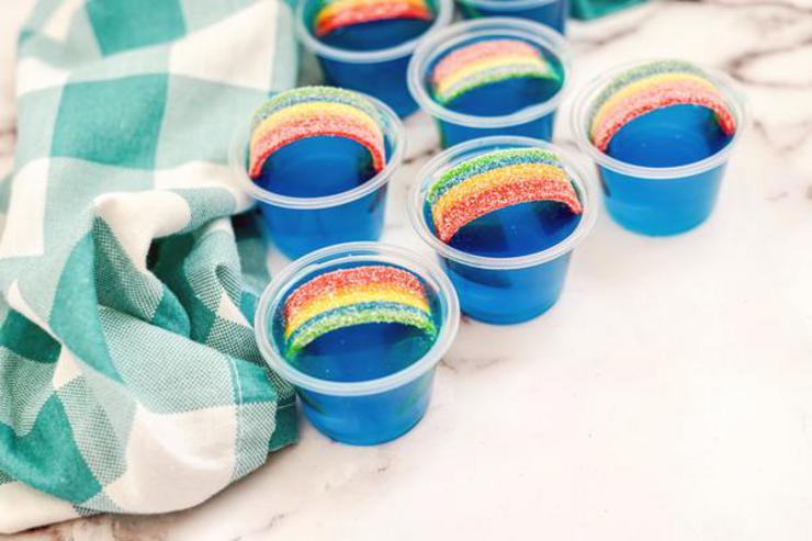 Alcohol Drinks Rainbow Jello Shots