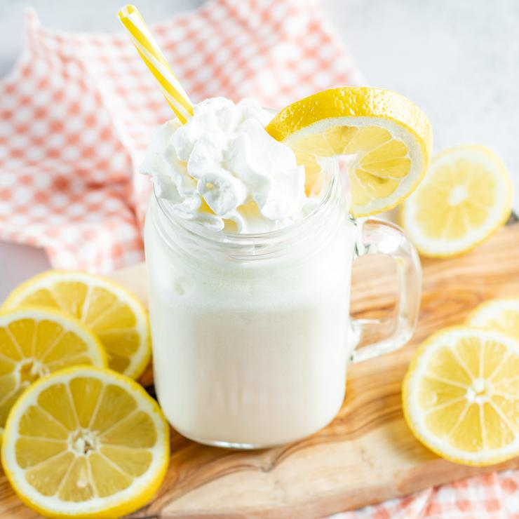 Copycat Chick Fil A Frosted Lemonade