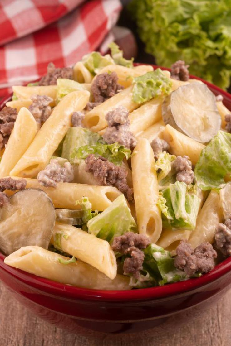 Gluten Free Big Mac Pasta Salad