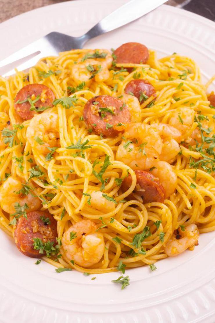 Gluten Pasta – BEST Gluten Free Cajun Shrimp Pasta With Sausage Recipe – Lunch - Dinner