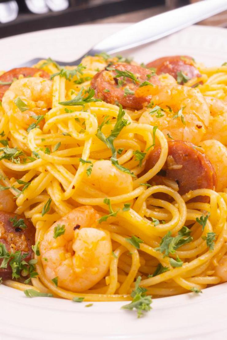 Gluten Free Cajun Shrimp Pasta With Sausage