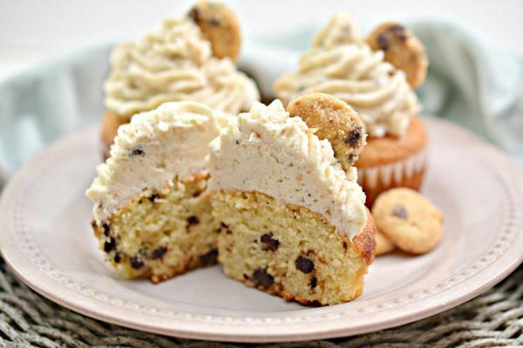 Gluten Free Chocolate Chip Cookie Cupcakes