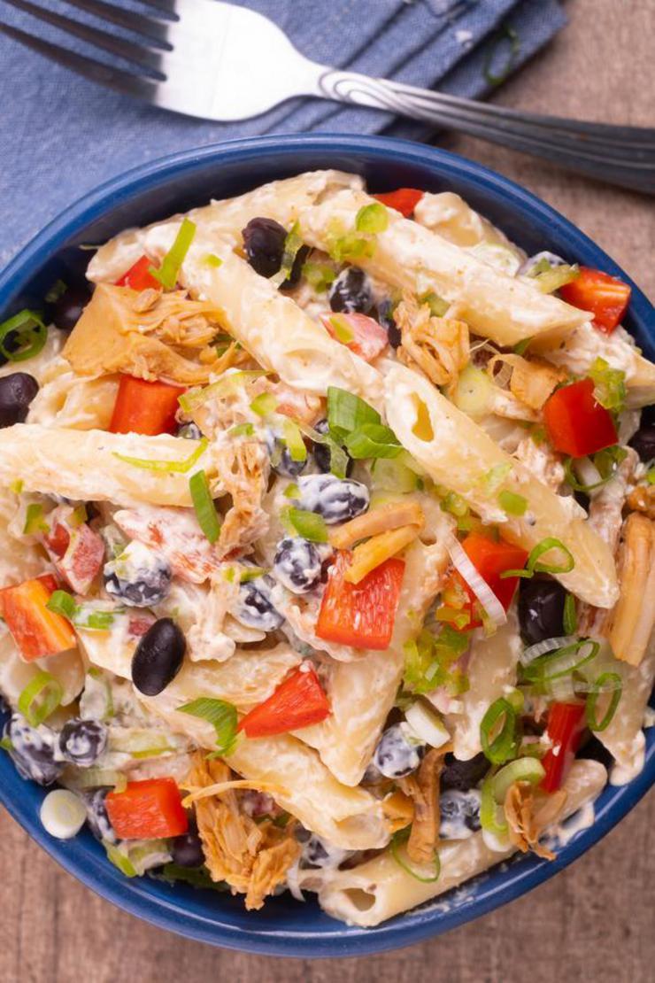 Gluten Pasta Salad – BEST Gluten Free Southwestern Cream Cheese Chicken Pasta Salad Recipe – Side Dish - Lunch - Dinner