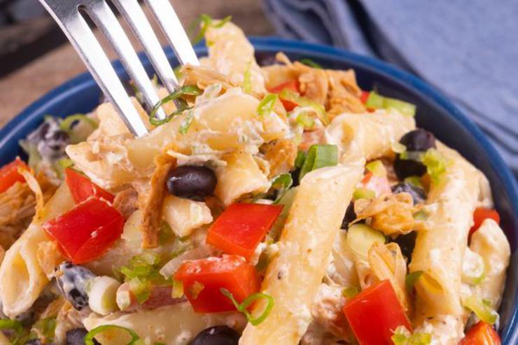 Gluten Free Southwestern Cream Cheese Chicken Pasta Salad