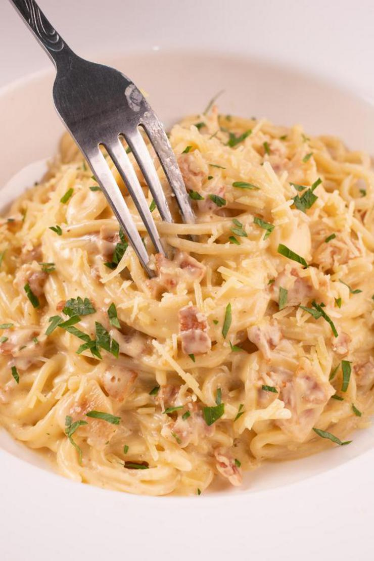 Gluten Free Spaghetti Carbonara