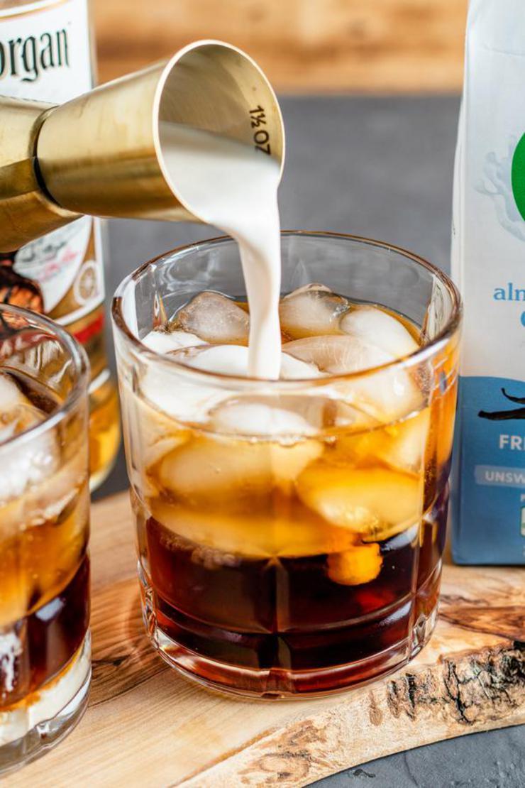 Keto Creamy Root Beer Rum Cocktail