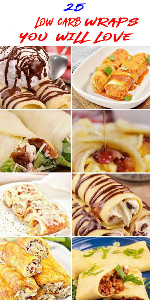 25 Insanely Delicious Low Carb Wraps - Gluten Free Roll Ups Recipes