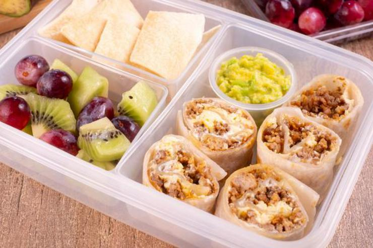 Easy Taco Pizza Roll Ups Lunch Box