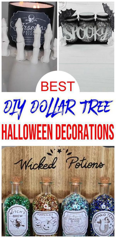 15 DIY Dollar Tree Halloween Decorations {EASY} Dollar Store Halloween DIY Crafts