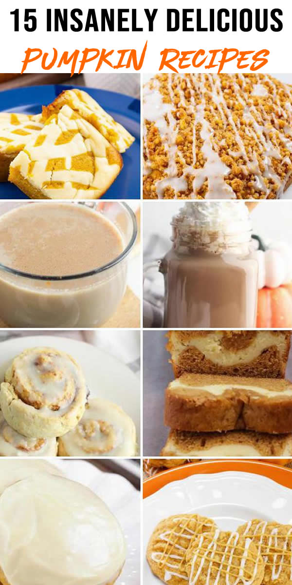 15 Insanely Delicious Pumpkin Recipes You Will Want To Try