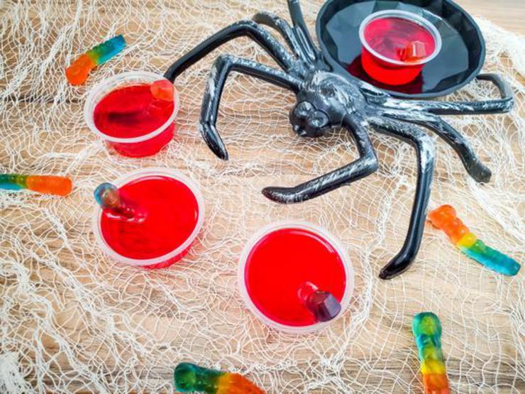 Alcohol Drinks Worm Jello Shots