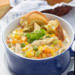 Crockpot Chicken Pot Pie Soup – EASY Slow Cooker Recipe – BEST Comfort Food Soup Dinner – Lunch – Party Food